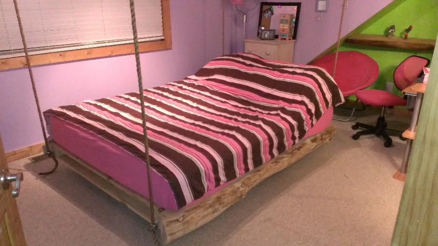 swinging bed, hanging bed, bed, porch bed, bunk bed