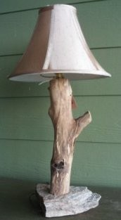 Locust Log Lamp